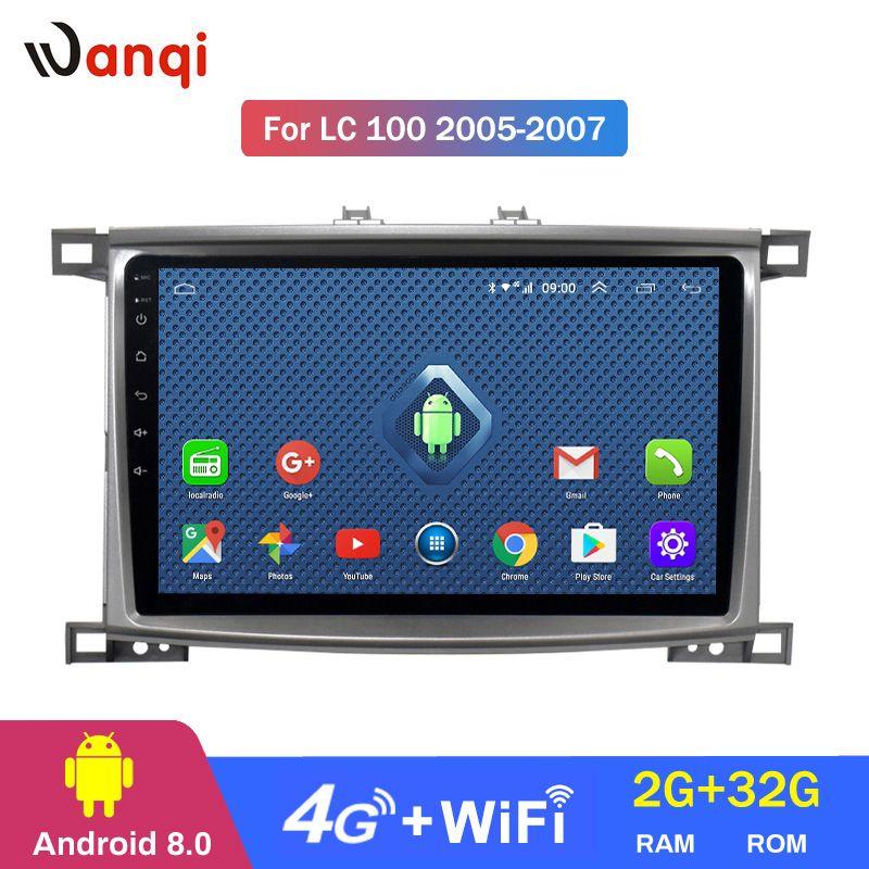 4G Lte Alle Netcom 2G RAM 32G ROM Auto-Radio-player für Toyota Land cruiser 100 GX LC 100 Stereo Radio Navigation