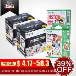 Fujifilm Instax Mini 9 30/40/50/60/70/80/100 Sheets White Instax Film Photo Paper for Fujifilm Instax Mini8/9/7s/25/90