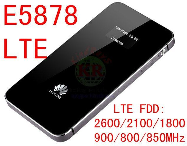 Neueste entsperrt Huawei 4g lte wifi router 150 Mbps E5878s-32 4g LTE FDD alle frequenz 4g lte miFi dongle pk E5878 e5776 e589 b593