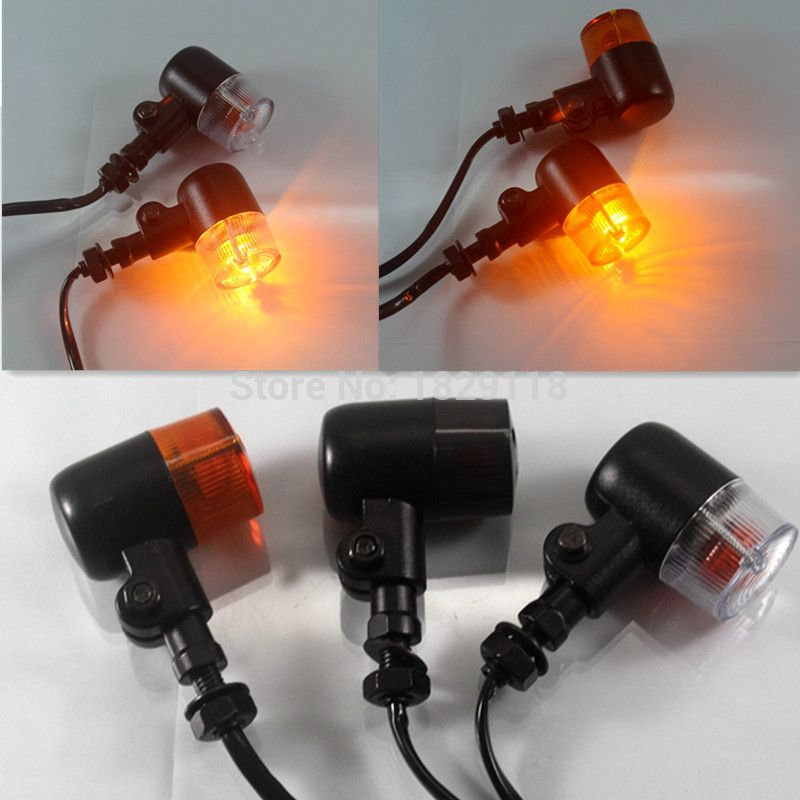 2x Bullet Motorcycle Turn Signal Light Indicator Lamp Flasher Amber For Harley Sportster Electra Glide Chopper Bobber Cafe Racer