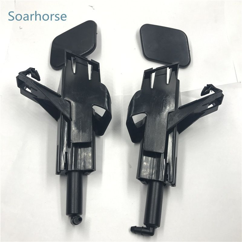 Soarhorse Car Headlight Washer spray nozzle water Jet Nozzle with cover cap fit for nissan Qashqai J10 2009 2010 2011 2012 2013