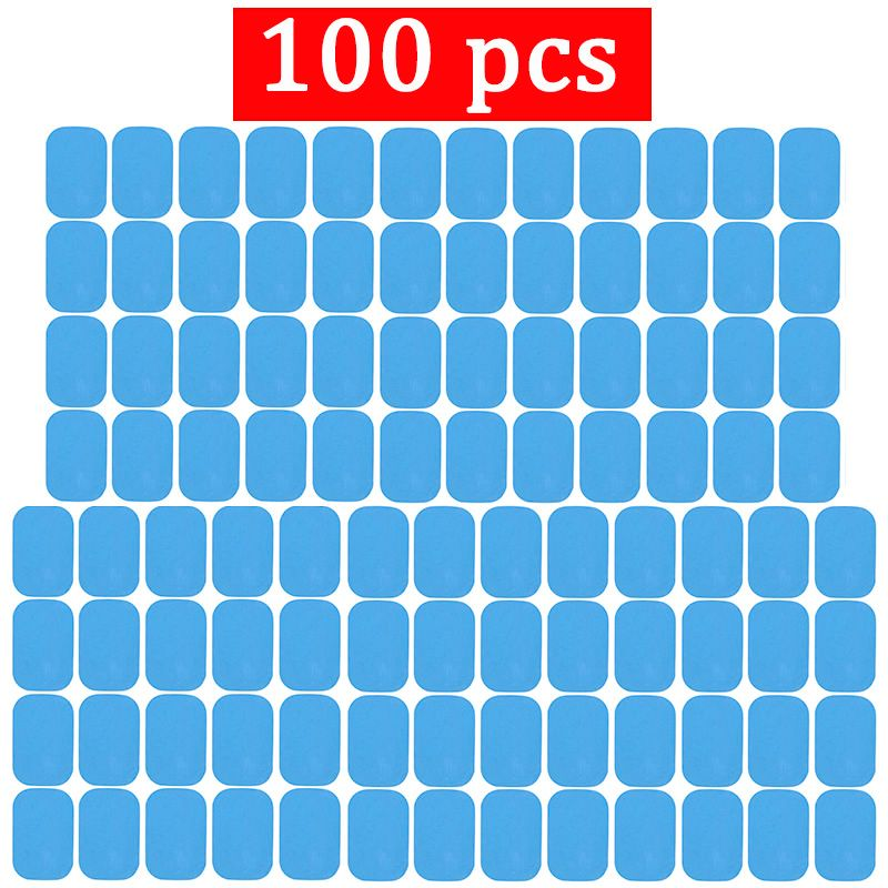 100pcs Replacement Fitness Gel Stickers For EMS Muscle Training Massager ABS Abdominal Trainer Hydrogel Electrode Pad/Patch