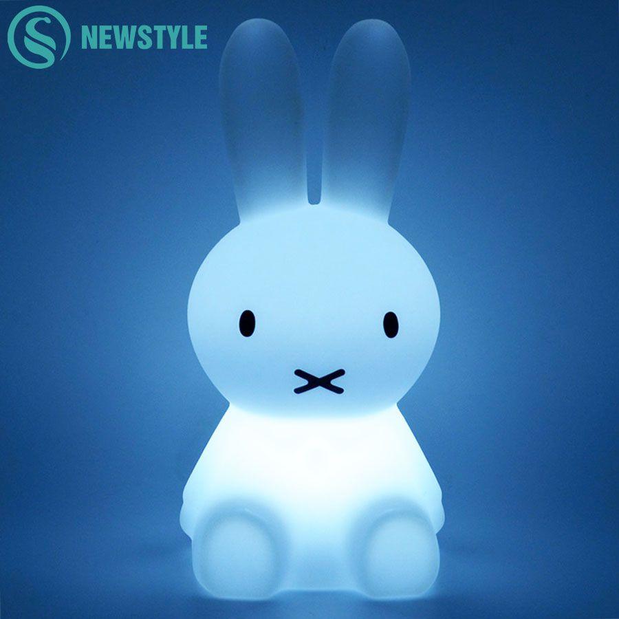 28cm Rabbit LED Night Light USB Charging Baby Children LED Night Lamp for Bedroom Home Decorative Light Kids Gift