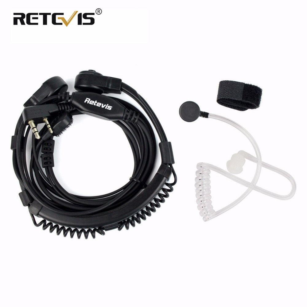 Retevis Extensible Gorge Microphone Casque PTT Talkie Walkie Écouteur Pour Kenwood Pour TYT Pour Baofeng UV-5R RT5R H777 RT7 RT22