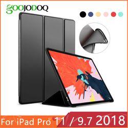 Для iPad 9,7 2018 2017 Чехол для iPad Pro 11 силиконовый мягкий чехол из искусственной кожи Smart Cover Funda для iPad 2018 6th поколения Чехол