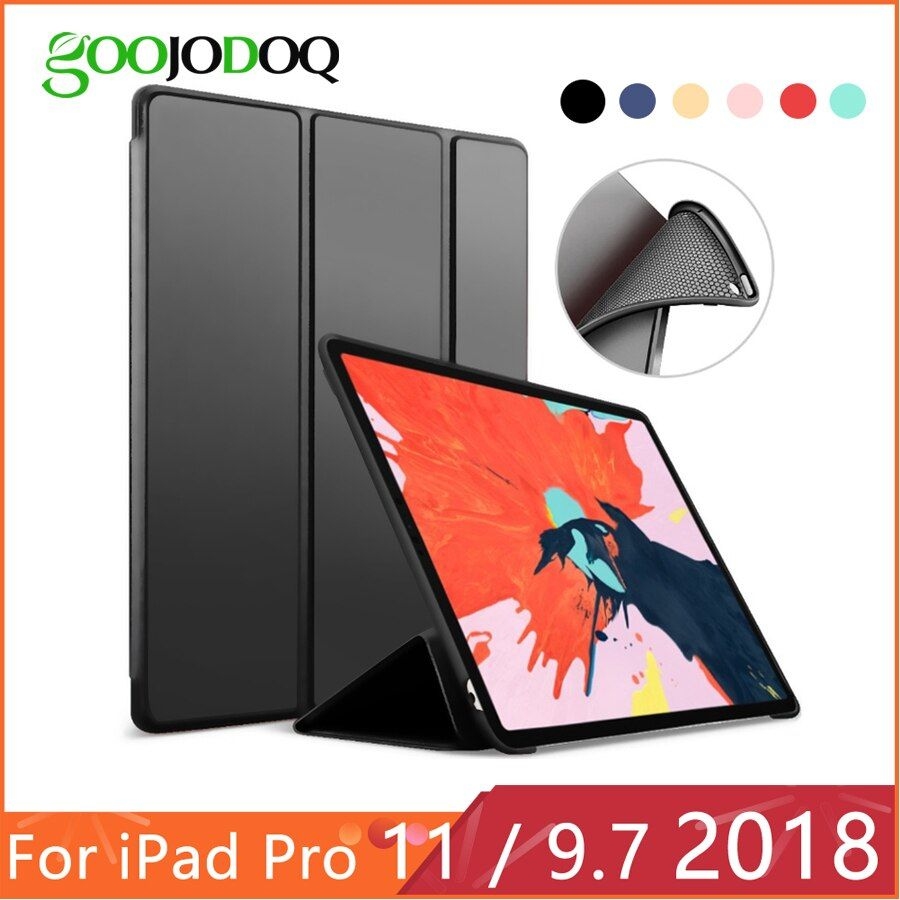 Pour iPad 2018 étui 6th Gen pour iPad Pro 11 Silicone souple dos PU cuir couverture intelligente Funda pour iPad 6th génération étui 9.7 2018