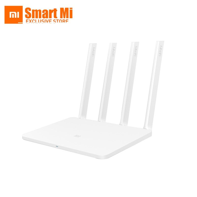 Original English XiaoMi Router 3 Mi Smart WIFI ROM 128MB 2.4G/5.0GHz 1167Mbps 4 Antenna Dual Band USB <font><b>Port</b></font> Wireless Routers