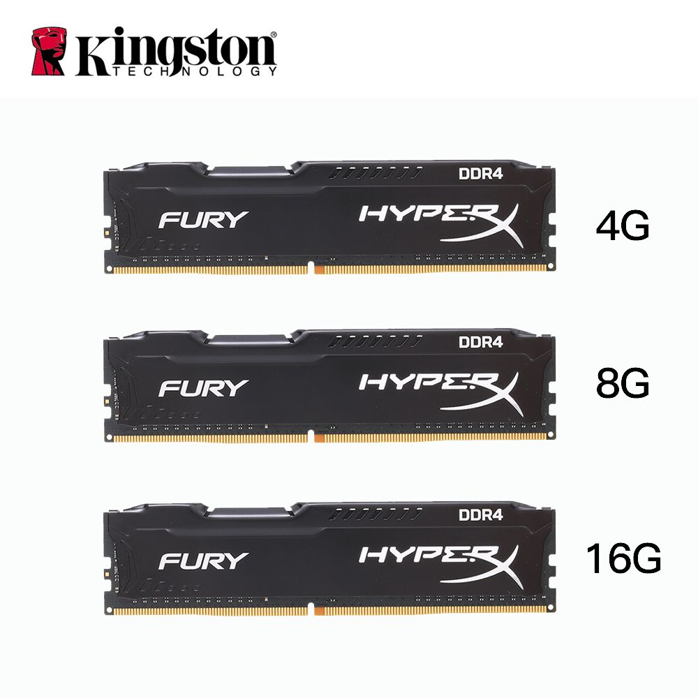 Kingston HyperX FURY 4GB 8GB 16GB DDR4 2400MHz PC RAM <font><b>Memory</b></font> DIMM 288-pin Desktop Ram Internal <font><b>Memory</b></font> RAM For Computer Games Ram