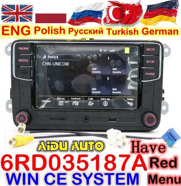 RCD330 RCD330G Plus 6,5 MIB Radio RCD510 RCN210 Stereo FÜR VW Golf 5 6 Jetta MK5 MK6 CC Tiguan Passat b6 B7 Polo Touran 187A
