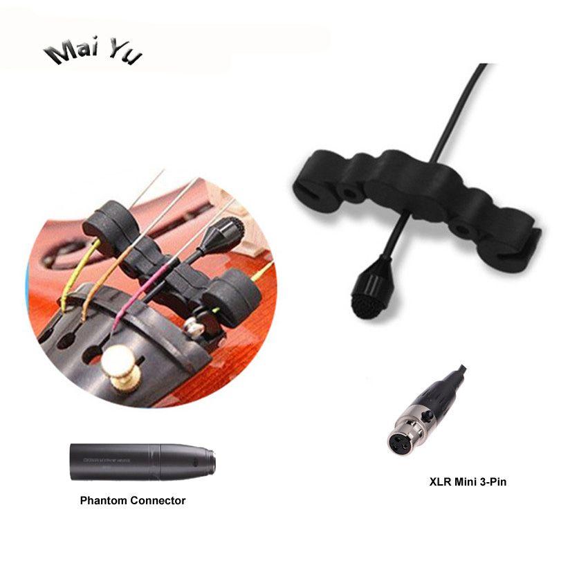 Professionnel Instrument de Musique Microphone À Condensateur Violon Microfone pour AKG Samson Sans Fil Système XLR Mini 3Pin Émetteur