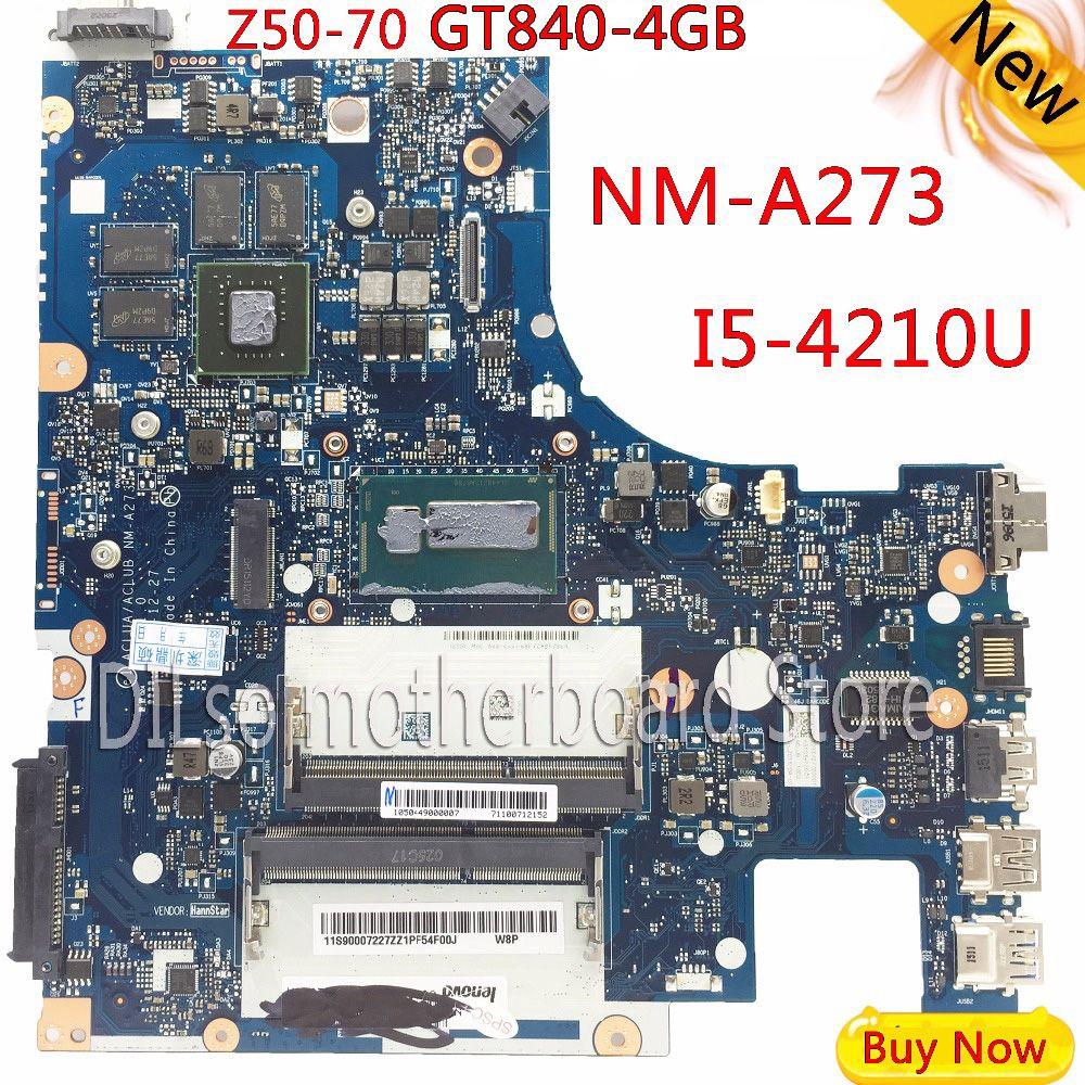 G50-70M KEFU pour Lenovo G50-70 Z50-70 i5 carte mère ACLUA/ACLUB NM-A273 Rev1.0 avec Test de carte graphique GT840M