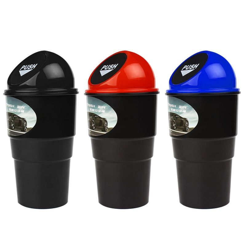 Delicate Car Garbage Can Vehicle Trash Can Garbage Bin Dust Case Rubbish Holder Auto Accessories Hot Selling