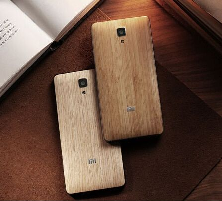 Official Original Wood Case for Xiaomi Mi4 Bamboo Back Battery Cover for Xiaomi 4 Mi4 Housing Replacement Parts + Free Sucker