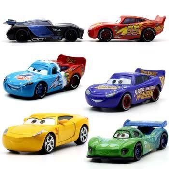 19 Style Disney Pixar Cars 3 Foudre McQueen Jackson Tempête Dinoco Cruz Ramirez 1:55 Diecast Metal Jouets Modèle De Voiture D'anniversaire cadeau