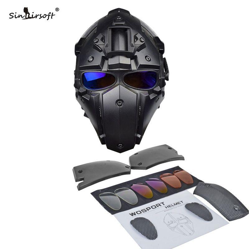 Heiße Neue Taktische Helm Paintball Maske w/Maske Goggle Alle-runde Airsoft CS Wargame Helm NVG OBSIDIAN GRÜN GOBL TERMINATOR