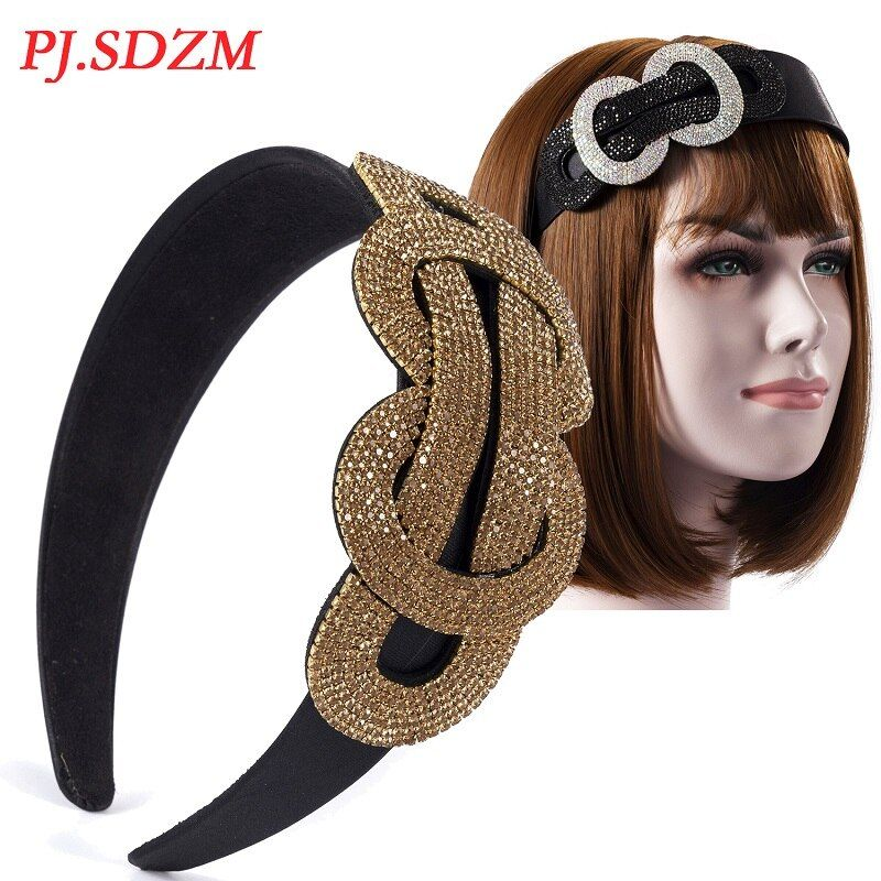 Wide Champagne Women Hairband Twisted Chic Luxury Trend Ladies Hair Accessories All Match Party Necessity Female Decorate FS0020