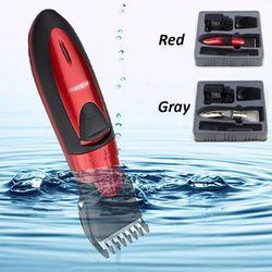 Профессиональная электрическая машинка для стрижки волос, перезаряжаемая машинка для стрижки волос, триммер для бороды, водонепроницаемый
