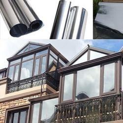 Impermeable ventana Películas una sola manera espejo de plata de aislamiento Adhesivos rechazo UV privacidad Windom tinte Películas s decoración del hogar 2 M * 50 cm