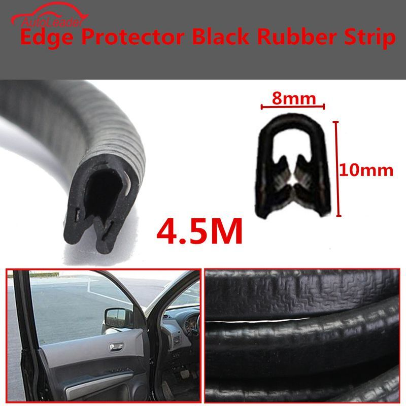 4.5 м черный автомобиль края протектора П-образный резиновые автоматические двери Шум изоляции анти-пыли Звукоизолированные Уплотнительные...