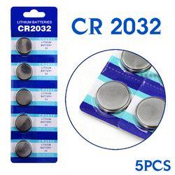 Livraison gratuite pile Bouton CR2032 5 Pcs 3 V Lithium Coin Cellules Bouton Batterie 5004LC ECR2032 DL2032 KCR2032 56