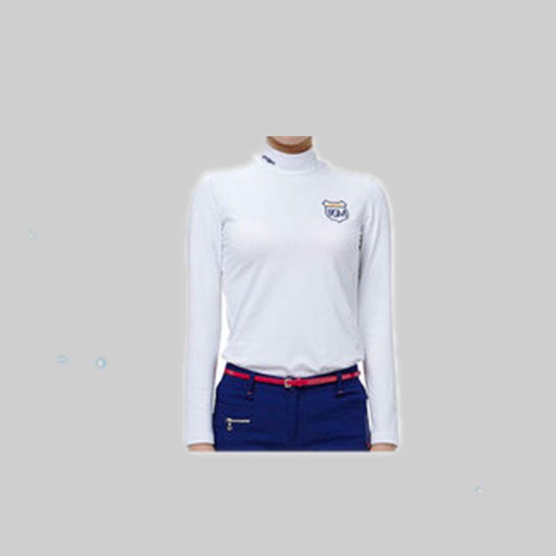 Mulheres Roupas De Golfe Golf Shirts Womens Sleeve Polo Poleras Hombre Apparel Ms. Long-sleeved Thermal Shirt Milk T-shirt