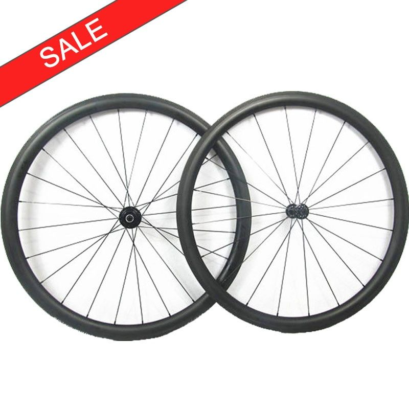 Super Deal !! good quality carbon road wheeels 38mm 50mm depths clincher rims with Formula hubs and Sapim cx ray spokes