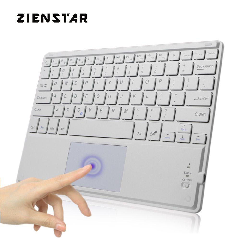 Zienstar 10 pouce Universel Sans Fil Bluetooth clavier avec Pavé Tactile Pour Samsung Tab/Microsoft/Android/Windows Tablette