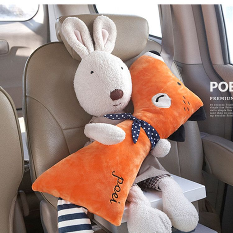 CNIKESIN Car Seat Belt Cover Cartoon plush Kids Children Pillow Shoulder Pads Safety Positioner Padding Waist Cushion Styling
