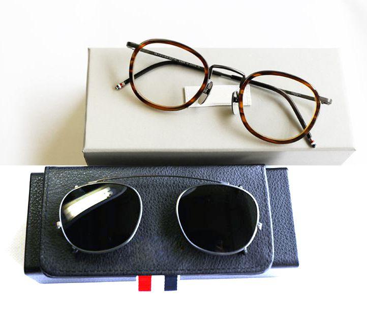 New York Montures De Lunettes Ou Lunettes De Soleil hommes femmes Optique Titane lunettes de prescription TB710 avec clip et boite D'origine