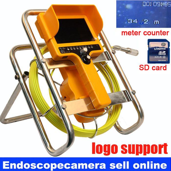 Sewer Wand Höhle Rohr Inspektion DVR Kamera Rohr Endoskop Endoskop 30 mt Kabel, meter zähler Pipeline Abwasser Schlange Kamera
