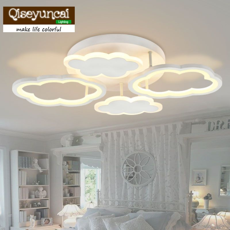 Qiseyuncai Aircraft Light Children's Room Chandelier Creative Cartoon Cute LED Bedroom Lighting Boy Room Lighting