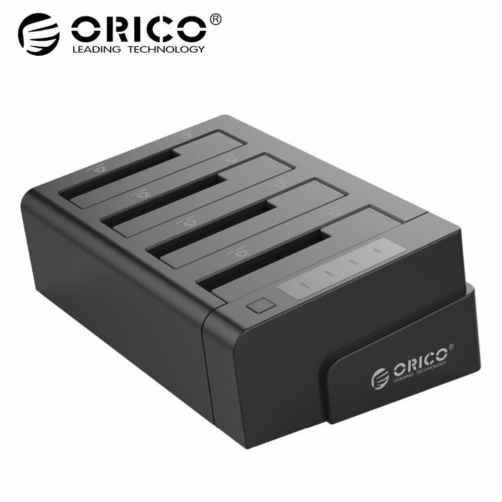 ORICO 6648US3-C USB 3.0 2.5 et 3.5 pouce SATA Disque dur Externe Quai 4 Baies Hors ligne Clone station d'accueil pour disque dur-Noir