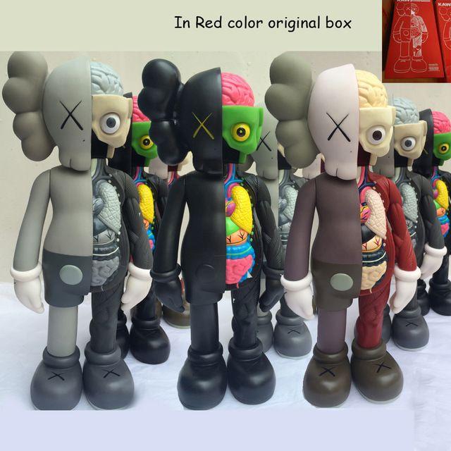 Art toys 16inch Tide Doll Medicom KAWS Dissected Companion Brian Street Art PVC action figures toys for children original fake