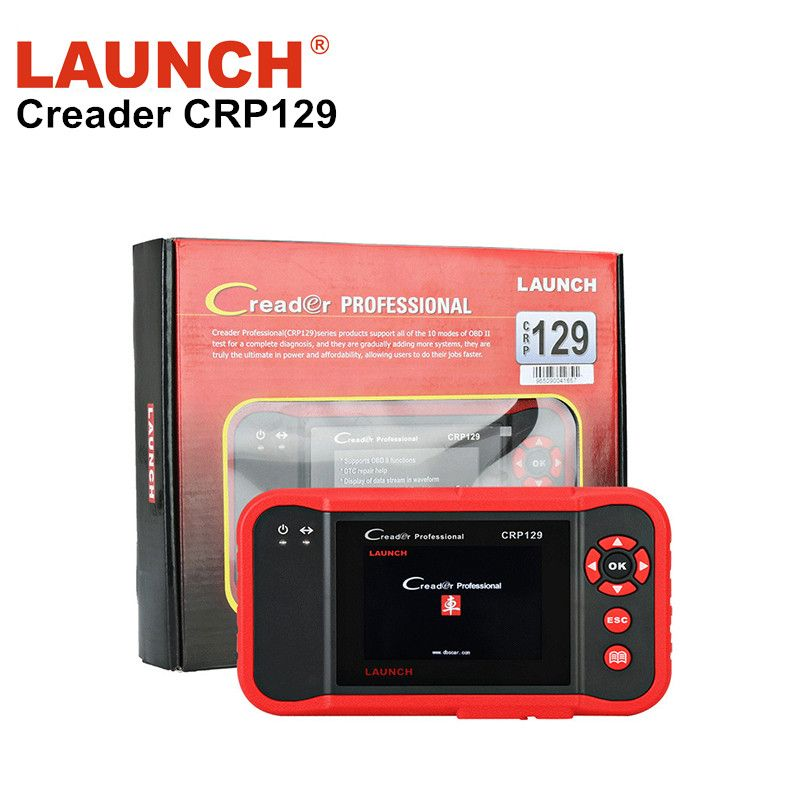 Original Launch X431 Creader CRP129 ENG/AT/ABS/SRS EPB SAS Oil Service Light resets auto code diagnostic Scanner tool for car