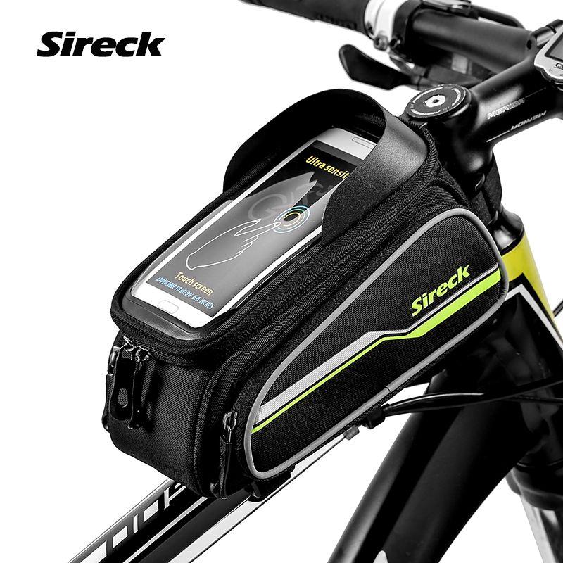 Sireck MTB Bike Bag 6 Touchscreen Bicycle <font><b>Frame</b></font> Saddle Bag Cycling Top Tube Bag Phone Case Bike Accessories 2017 Borsa Bici