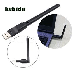 kebidu Hot 150Mbps USB 2.0 WiFi Wireless Network Card 802.11 b/g/n LAN Adapter with Antenna MT-7601 for Laptop PC