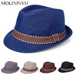 MOLIXINYU New Straw Cap Baby Hats Children Jazz Cap Bucket Hat Sun Cap Summer Hat For Girls Boys Panama Hat Photography Props