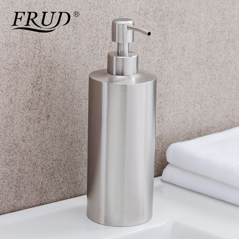 FRUD Stainless Steel Kitchen Bathroom Liquid Hand Pump Soap Dispenser Lotion Detergent Bottle Bathroom Accessories Modern Y35010