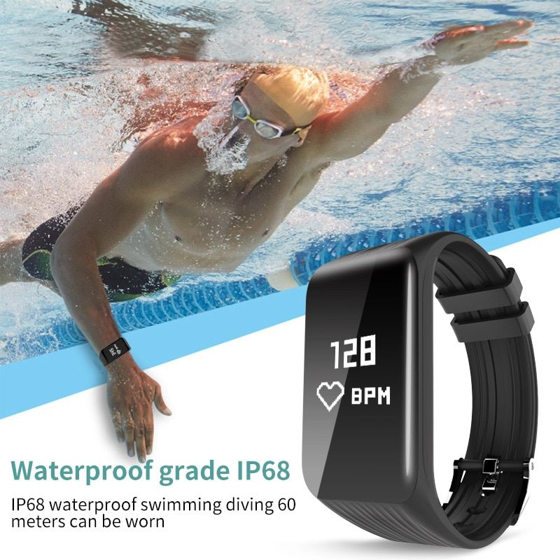 Hembeer K1 Real-Time Heart Rate Monitor Smart Bracelet Waterproof IP68 Sport Activity Tracker Band For xiomi mi a1 PK F1 Watch