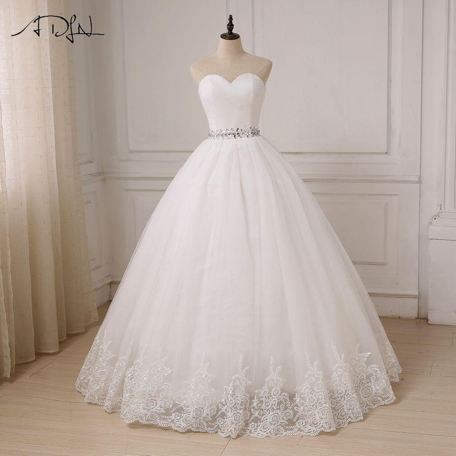 ADLN Cheap Wedding Dress 2017 Sweetheart Ball Gown Tulle Bride Dresses Vestido De Noiva Robe De Mariee Custom Plus Size