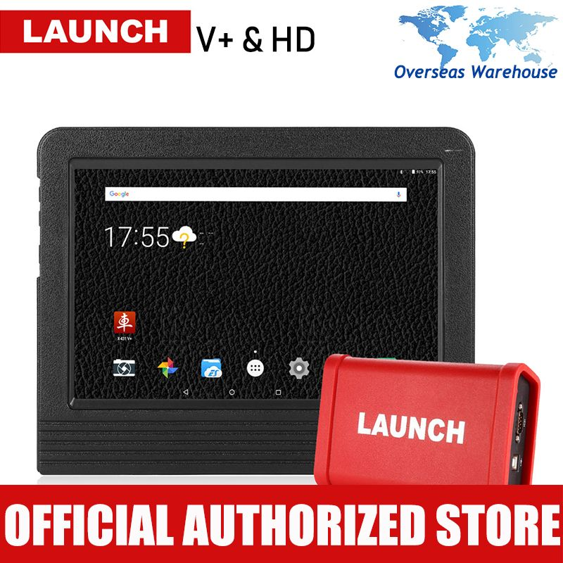 LAUNCH X431 V+ Heavy Duty Car Diagnostsic Tool Full System Automotive Heavy Truck Diagnostics Tools Auto Diagnosis Pad V Plus