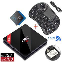 1 año iptv Original H96 PRO Plus + Android 7,1 TV caja 3G 32G Amlogic S912 64bit WIFI bluetooth 4,1 LAN 4 K y 2 K Smart Media Player