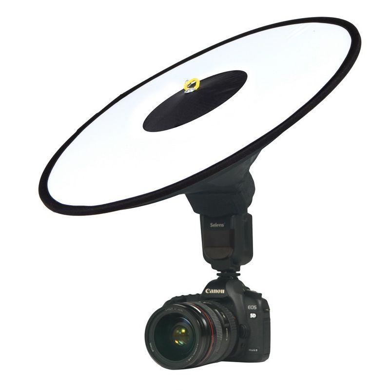 Universal 44 cm Facile-fold Ronde de Flash Softbox Flash Speedlite Diffuseur Réflecteur pour Canon Nikon Sony Metz Macro Tir