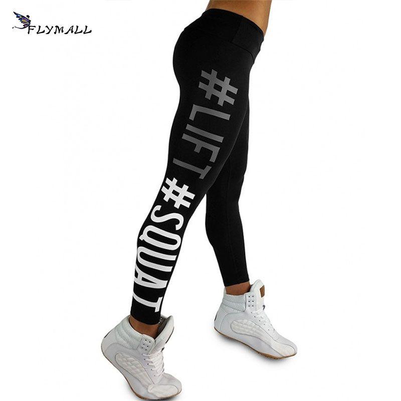 Mujeres entrenamiento Leggings pantalones flacos de alta elasticidad fitness Slim mujeres transpirable mujeres lápiz Pantalones push-up Sporting Leggings