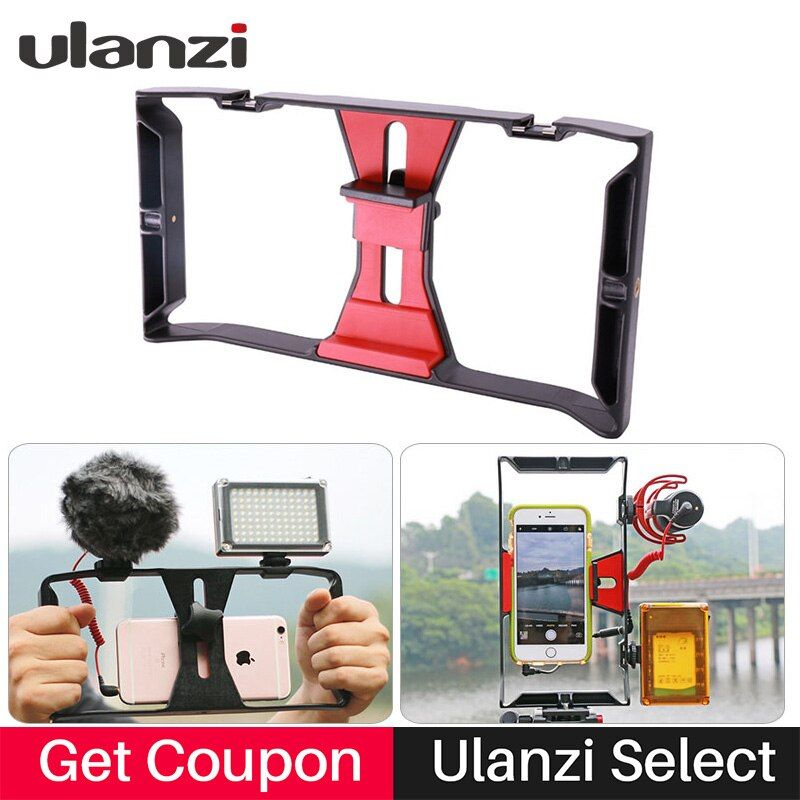 <font><b>Ulanzi</b></font> Handheld Smartphone Video Rig Case for iPhone X Samsung,Phone Rig Stabilizer for Live stream Youtube Filmmaking Vlogger