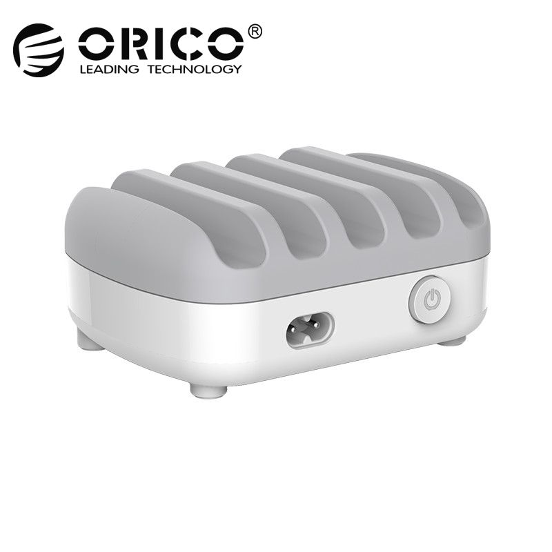 ORICO USB Charger 5 Ports 5V 2.4A 40W Charging Station Desktop Smart Phone <font><b>Tablet</b></font> Charger with Stand for iphone 7 plus charger