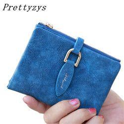 Prettyzys леди защелки короткие бумажник сцепления Винтаж матовая Для женщин кошелек моды небольшой женский кошелек короткие монета держателя ...