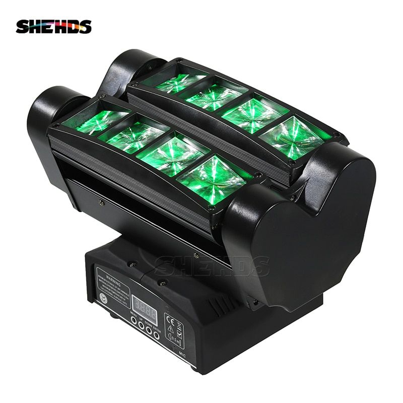 8x10W 4IN1 RGBW MINI LED Spider Moving Head Beam Light DMX Led Light Beam Angle Led Stage Lights DJ Party Fast Shipping