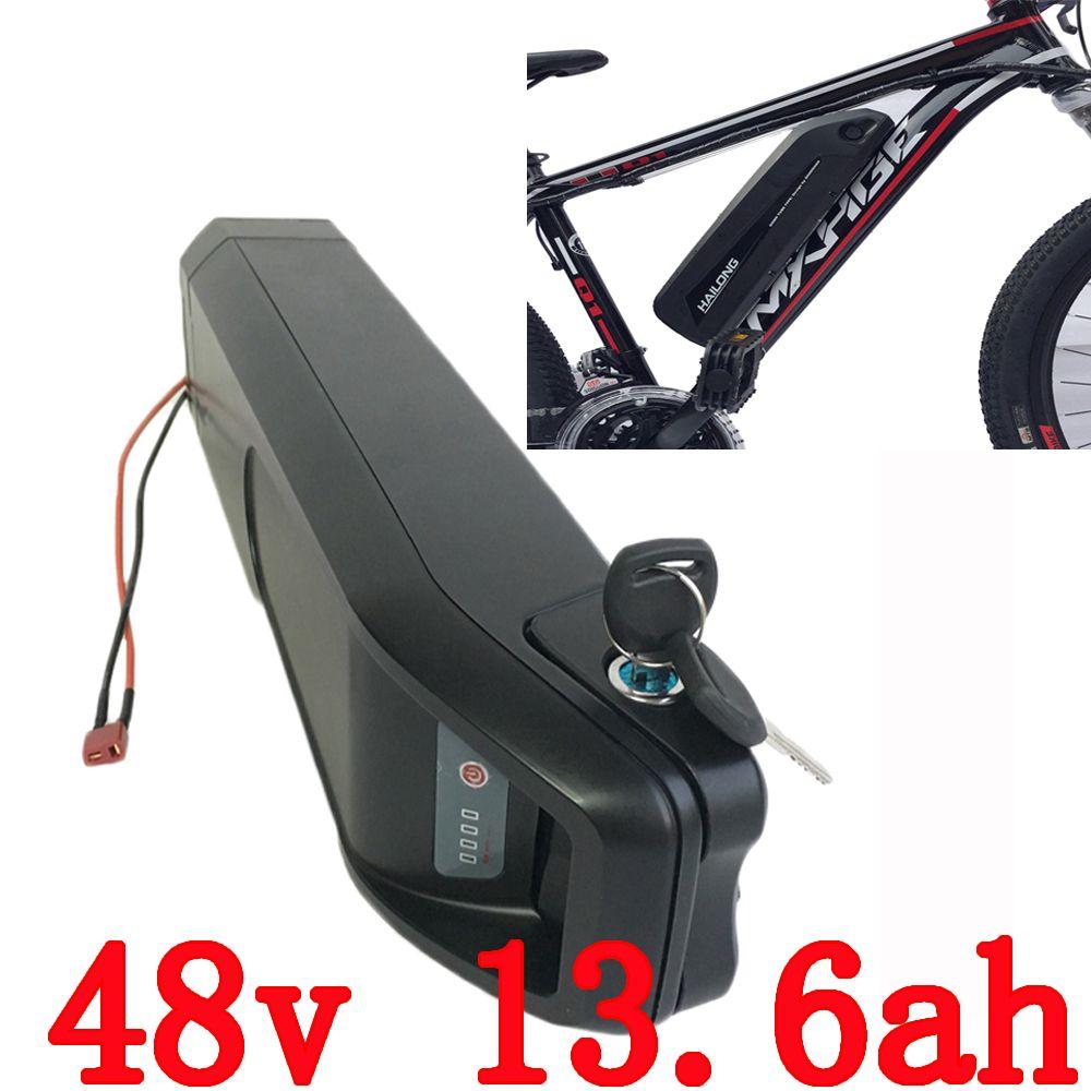 EU US no tax electric bike battery 48V 13.6AH 750w use for Panasonic 3400mah cell battery li-ion battery 48v for e- bike