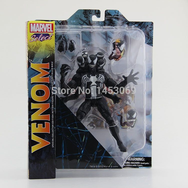 Free Shipping DST Marvel Select The Amazing Spider-man 2 Venom PVC Action Figure Collcetion Model Toy 21cm #SPM002